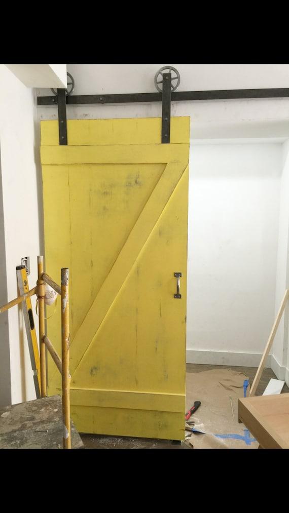 Custom Barn Door Classic Z Barn Door Yellow Barn Door Etsy