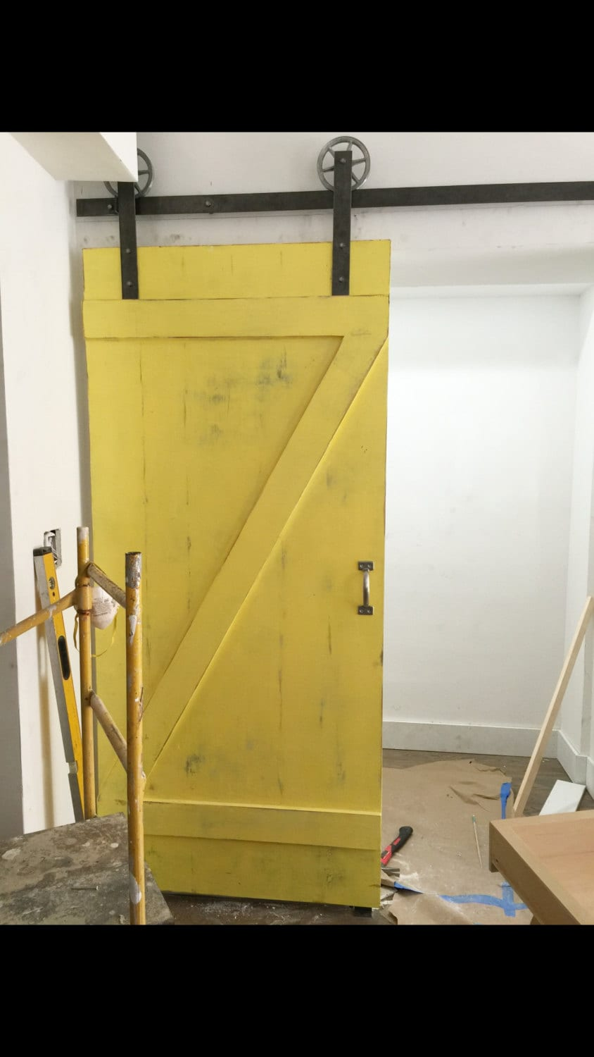 Custom Barn Door Classic Z Barn Door Yellow Barn Door Etsy