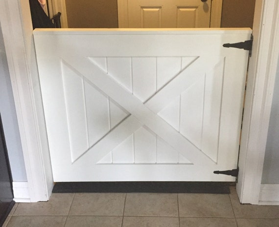 Custom Barn Door Baby Gate White Painted Baby And Pet Gate Etsy