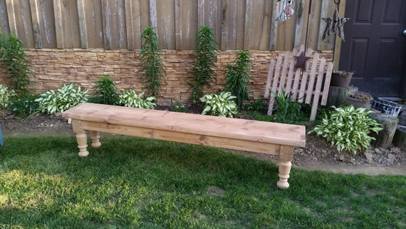 Cool Farm House Bench Farm Table Bench Entryway Bench Farm Bench Unfinished Farm Table Farmhouse Bench Turned Leg Bench Gmtry Best Dining Table And Chair Ideas Images Gmtryco