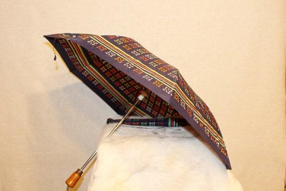 Vintage umbrella Colorful rain umbrella parasol S… - image 2
