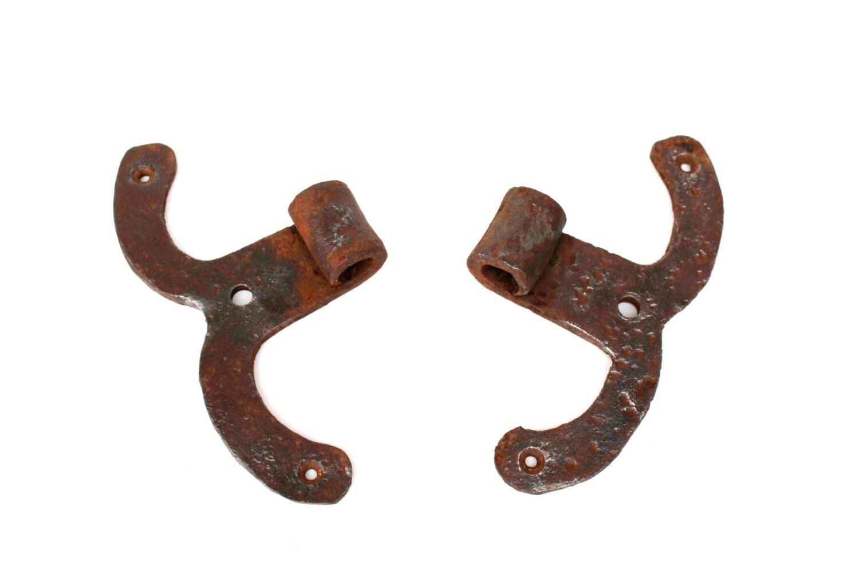 Antike Tür Türscharniere Scharniere große handgemachte