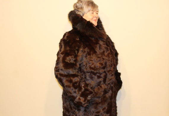 XL Fur coat Real fur coat Mountain goat fur coat H