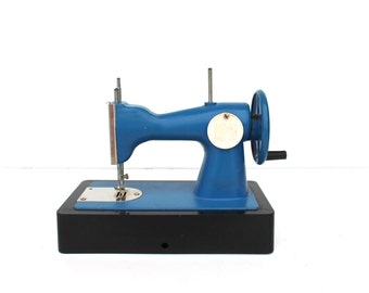 Kids sewing machine Soviet vintage kids sewing machine Childrens sewing machine Blue kids sewing machine working order