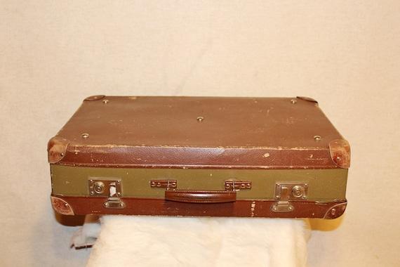 Vintage suitcase Luggage bag Soviet suitcase 60s R