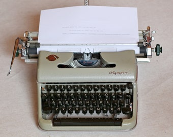 """SUPERBLY WORKING Olympia typewriter Wide carriage 17 """" Olympia de Luxe  Working typewriter Vintage Olympia typewriters Long carriage"""