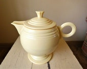 Fiesta Ware Insulated Plastic Thermal Teapot Yellow Homer Laughlin Rare Vintage Carafe