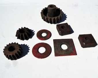Steampunk Supply Rusty Gears Altered Art Industrial Salvage Sprockets Cogs