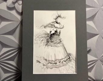 Fashion Art Illustration Watercolour Painting 'Audrey'