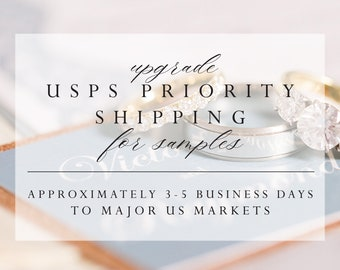 Upgrade to USPS PRIORITY For US Only, for Samples only (max 5 samples)