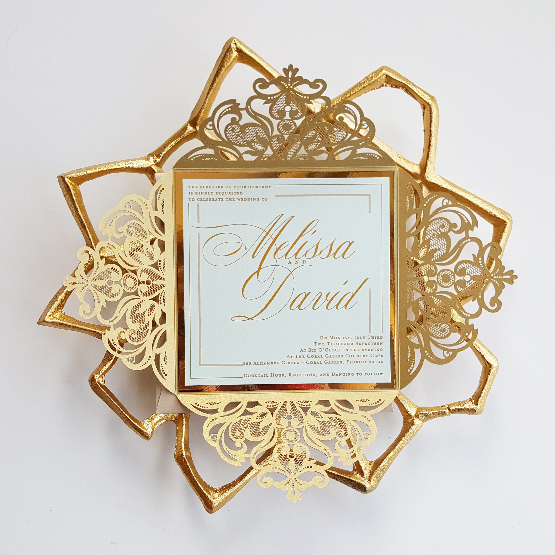 Mint Invitations Wedding: Gold Wedding Invitation Sample Elegant Mint And Gold