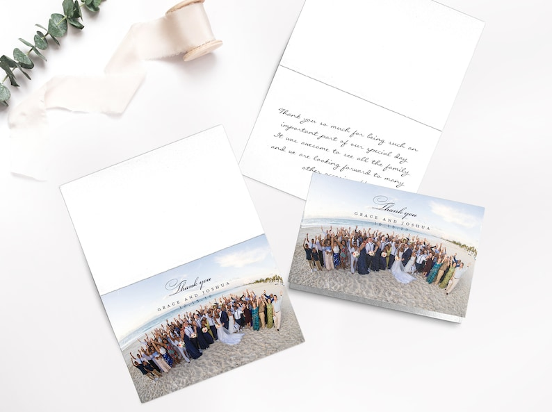 folded thank you card for wedding {Hyacint design} Wedding Thank you card