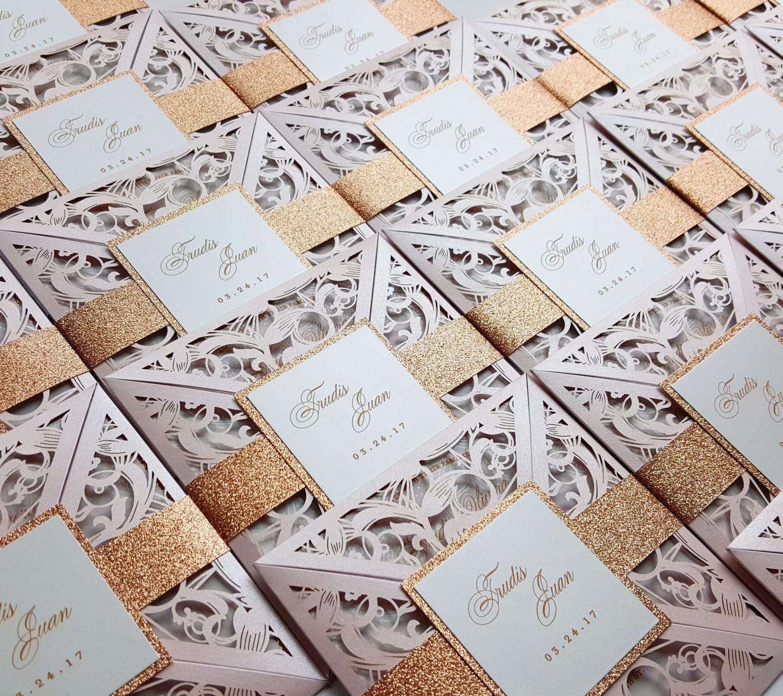 50: Gold Laser Cut Wedding Invitations At Websimilar.org