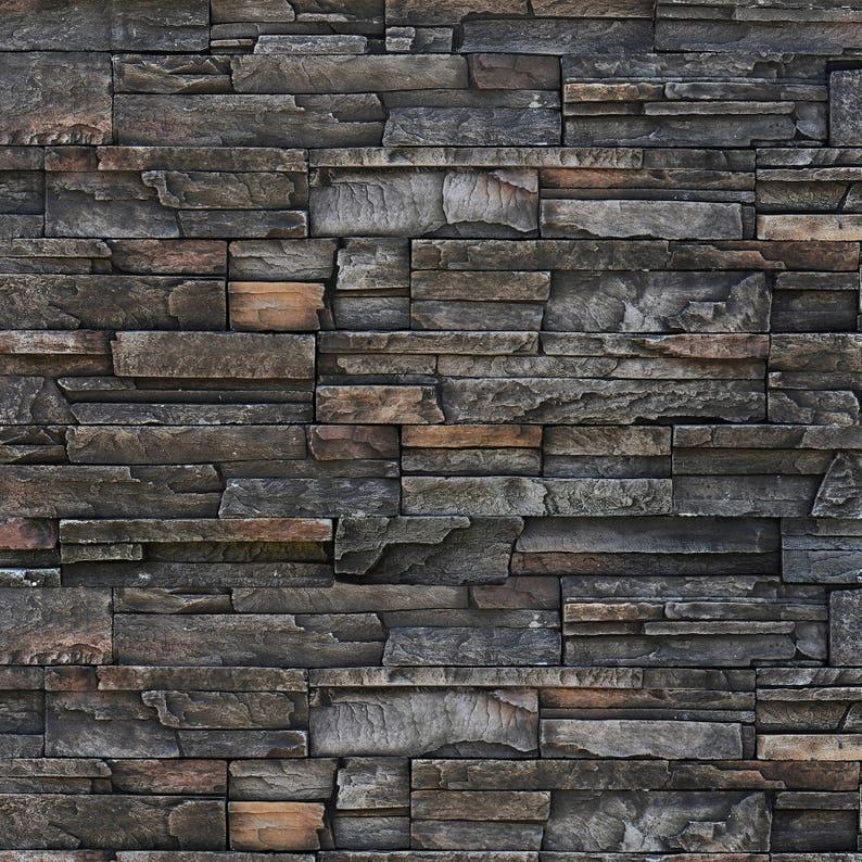 Dark Stone Wall  Exclusive  Vinyl Photography Backdrop image 0