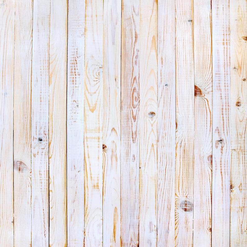 Wire-Brushed White Wood  Vinyl Photography  Backdrop Photo image 0