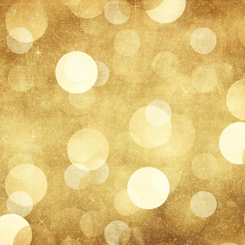 Gold Night Bokeh  Vinyl Photography  Backdrop Photo Prop image 0