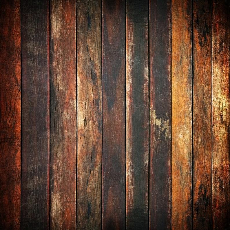 Vintage Oak Wood  Vinyl Photography  Backdrop Photo Prop image 0