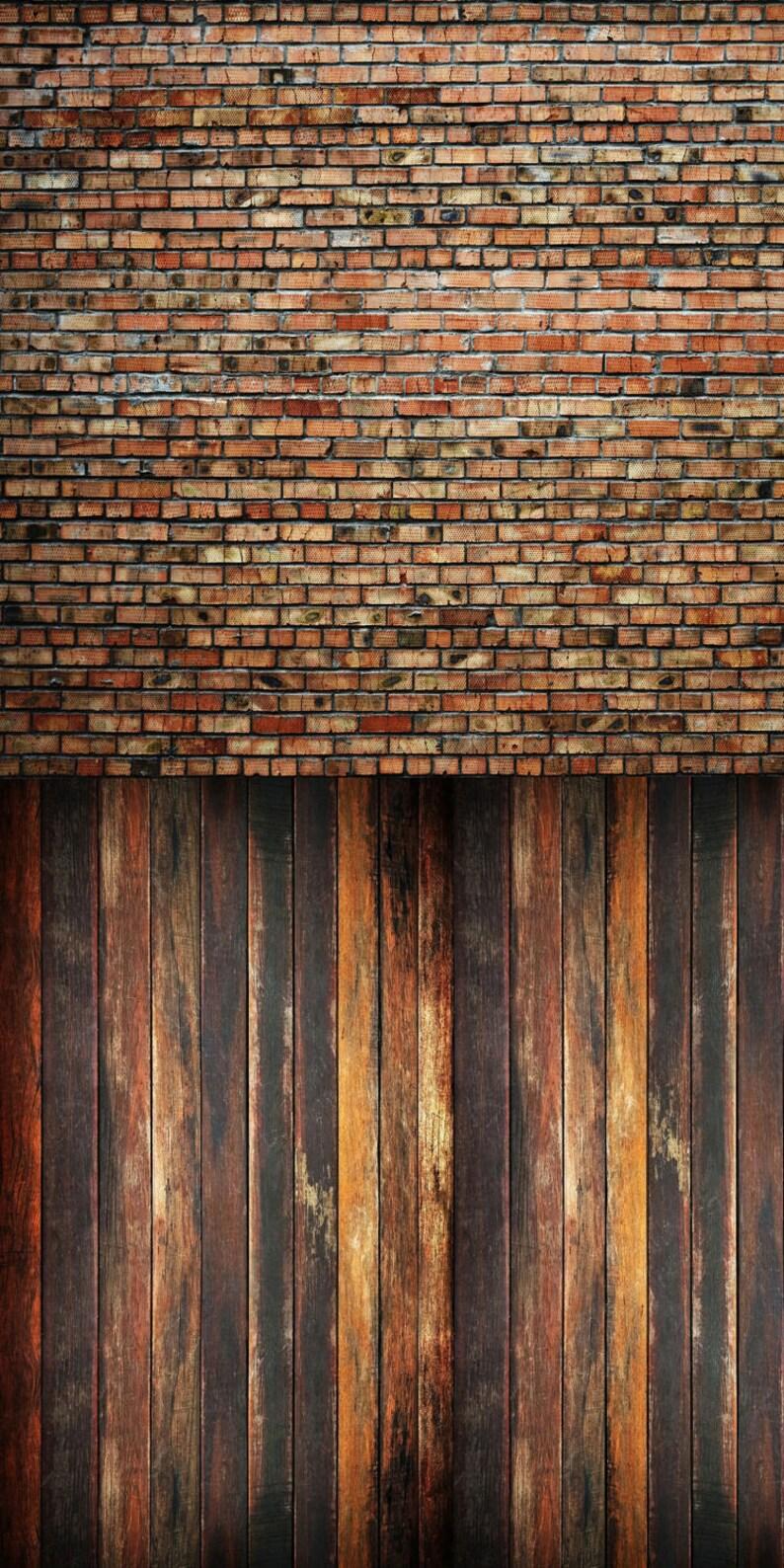 Warm Raggedy Brick and Vintage Oak  Vinyl Photography image 0