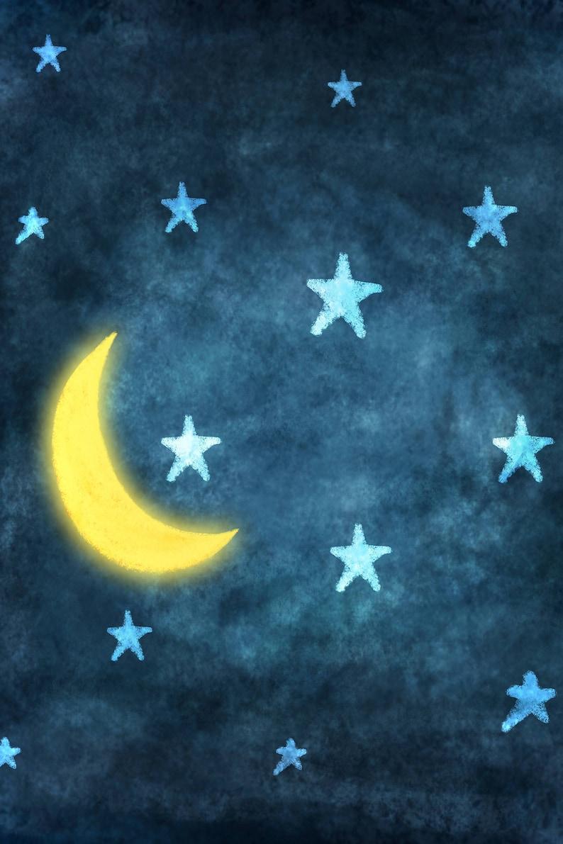 4'x6' Goodnight Moon Backdrop  Rush Shipping image 0