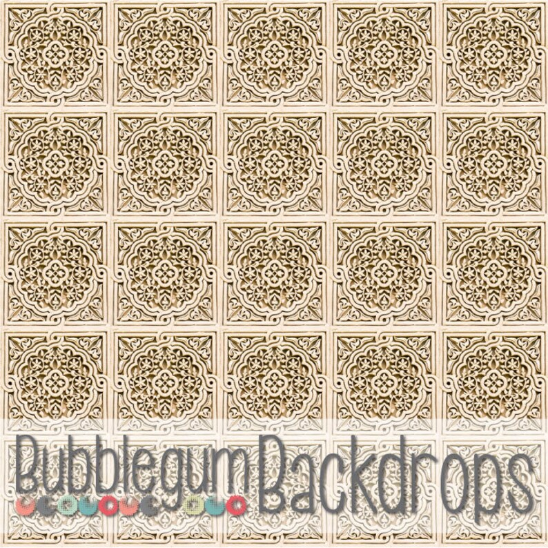 Old Stone Tile  Exclusive  Vinyl Photography Backdrop image 0