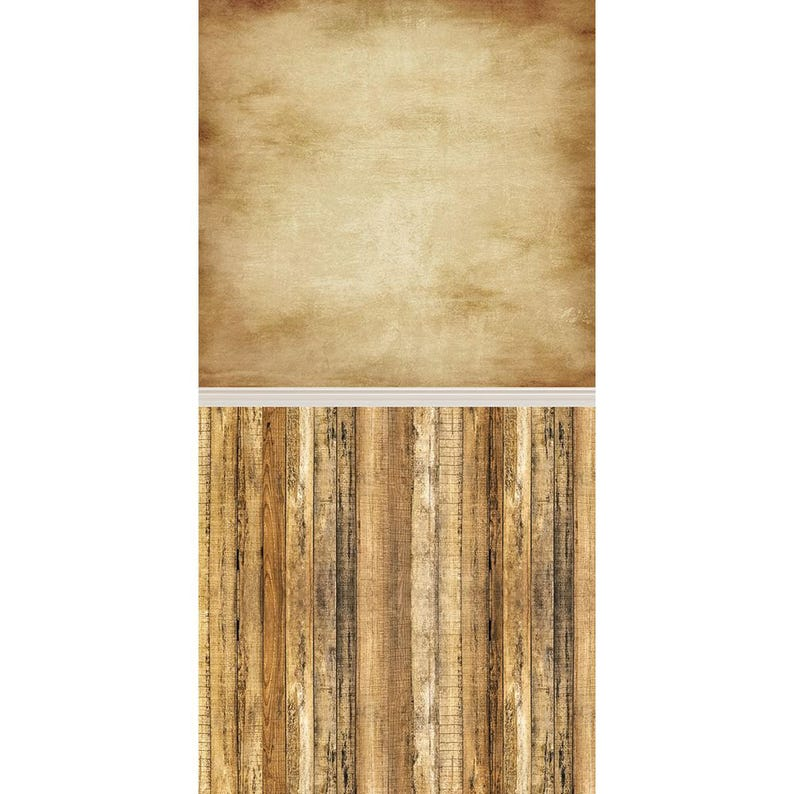 Brown Grunge and Rustic Wood  Vinyl Photography  Backdrop image 0