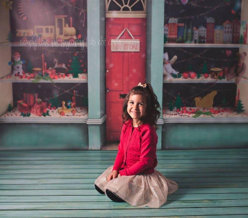 Red Distressed Damask  Vinyl Photography Backdrop Floordrop image 0