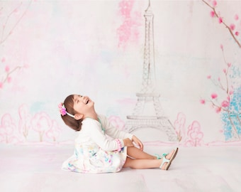 Spring in Paris All in One - Vinyl Photography  Backdrop Photo Prop
