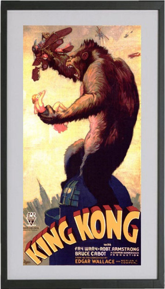 King Kong 1933 8 5x11 Poster Print Other Sizes Available See Listing Details