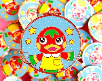 Cute Tomato Duck Enamel Pin-Grade A