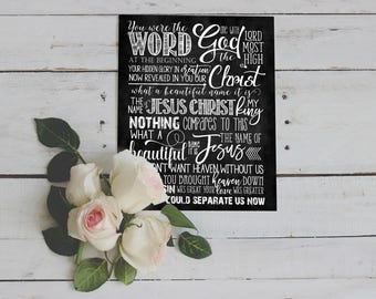 """Chalkboard Art ~ Song """"What a Beautiful Name"""""""