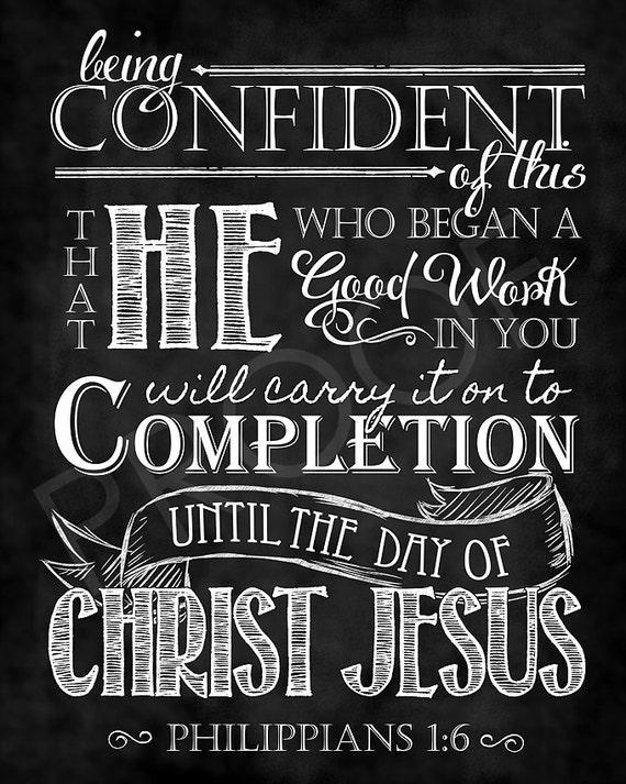 scripture art philippians 1 6 chalkboard style etsy