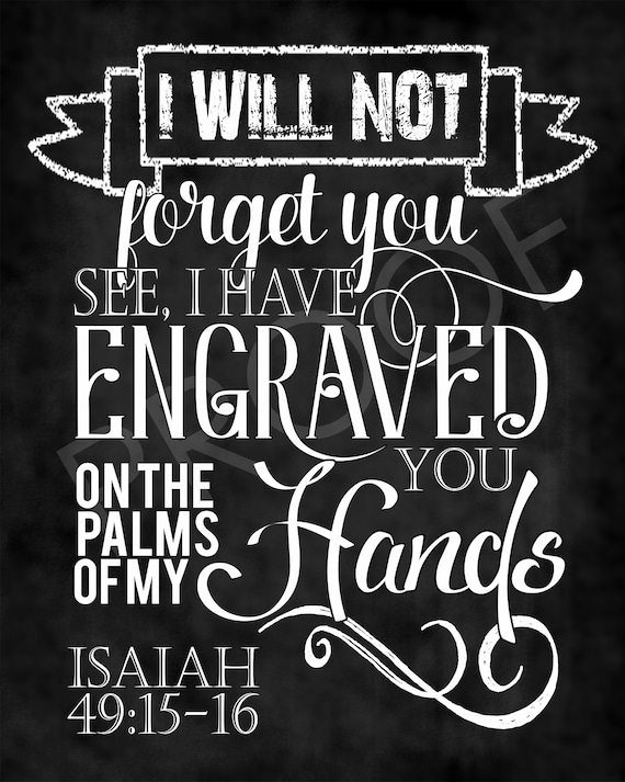 Bible Wall Art Poster Bible Verse Art Bible Verse Wall Art Isaiah 49:15