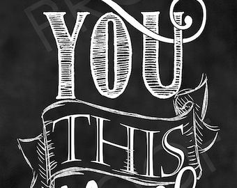 Chalkboard Art - I Love You This Much (custom narrow piece)