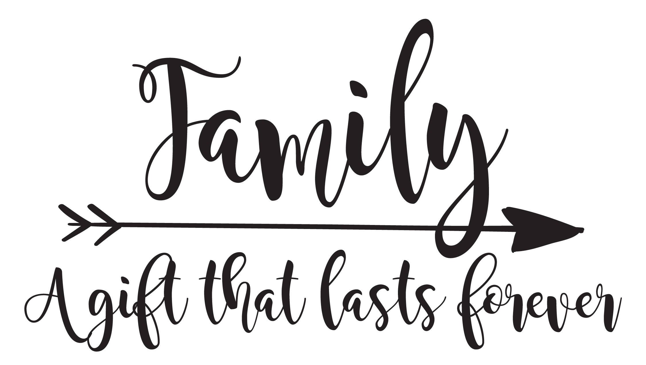Vinyl Wall Decal | Family - A gift that lasts forever
