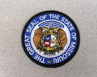 Printed Patch Display your travels! Sew On Bag MISSOURI STATE SEAL Hat