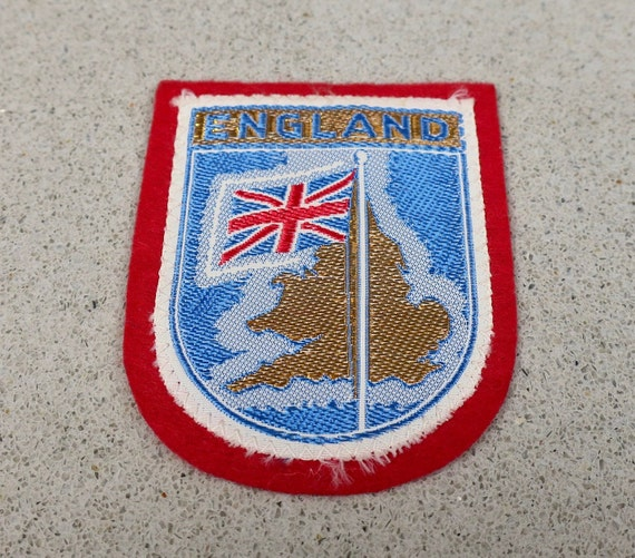 Vintage Woven England Travel Patch - image 1
