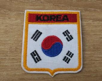 Vintage Korea Travel Patch