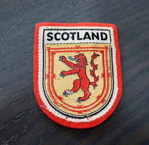 Vintage Woven Scotland Travel Patch - image 1