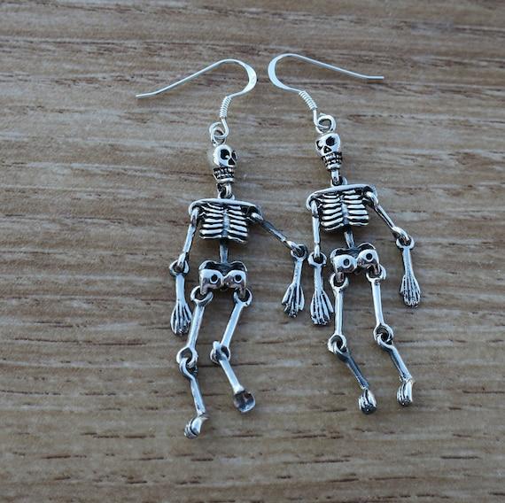 Vintage 925 Sterling Silver Articulated Skeleton D