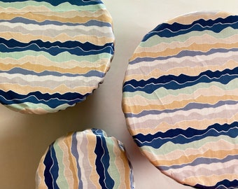 Zero Waste, Laminated Bowl Covers, Laminated Cotton, Sets and Sizes Available, Hostess Gift, Housewarming Gift, Bowls, Eco Friendly
