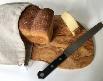 Linen Bread Bag, Bread Storage, Zero Waste, Reusable, Bread Bag, Natural Linen, Kitchen Storage, Bread Keeper, Drawstring Bag