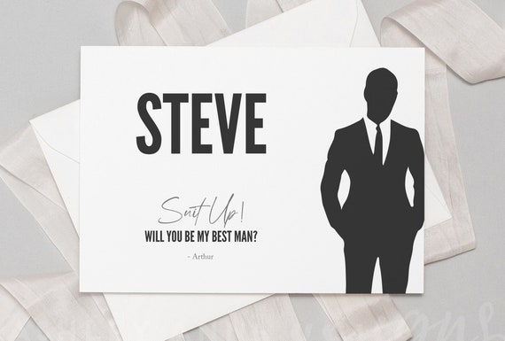 Best Man Card Will You Be My Best Man Card Best Man Etsy