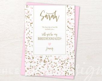 Maid of Honor Proposal Card, Bridesmaid Proposal Gift, Card for Maid of Honor, Matron of Honor Proposal Card, Bridesmaid Proposal Card