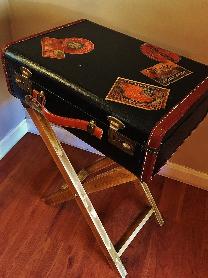 Night Stand Side Table End Table Suitcase Table with Drawer