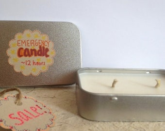 On The Go Candle. Non-scented soy wax candle. Emergency candle. Camping candle. Birthday Gift for Him. Gift Idea for Her.