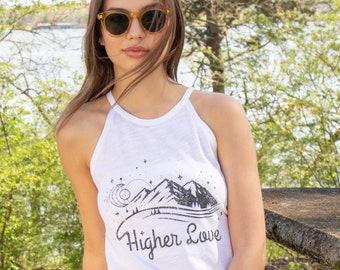 83e80f17f Higher Love - White Slub Cotton Halter Tank. $32.00. Favorite. Add to