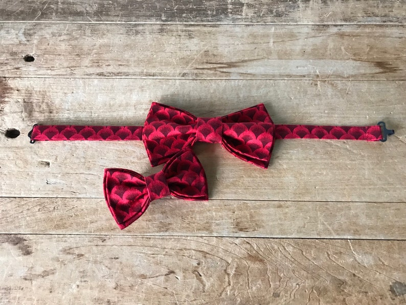 Wedding Adjustable Bow Tie Handmade Christmas Red Gent and Tail Wagger Swag Bow Tie Set Simply Me \u2022 Gentlemen Valentine\u2019s Day