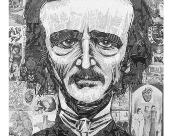 Poe, limited edition giclee print of Edgar Allen Poe