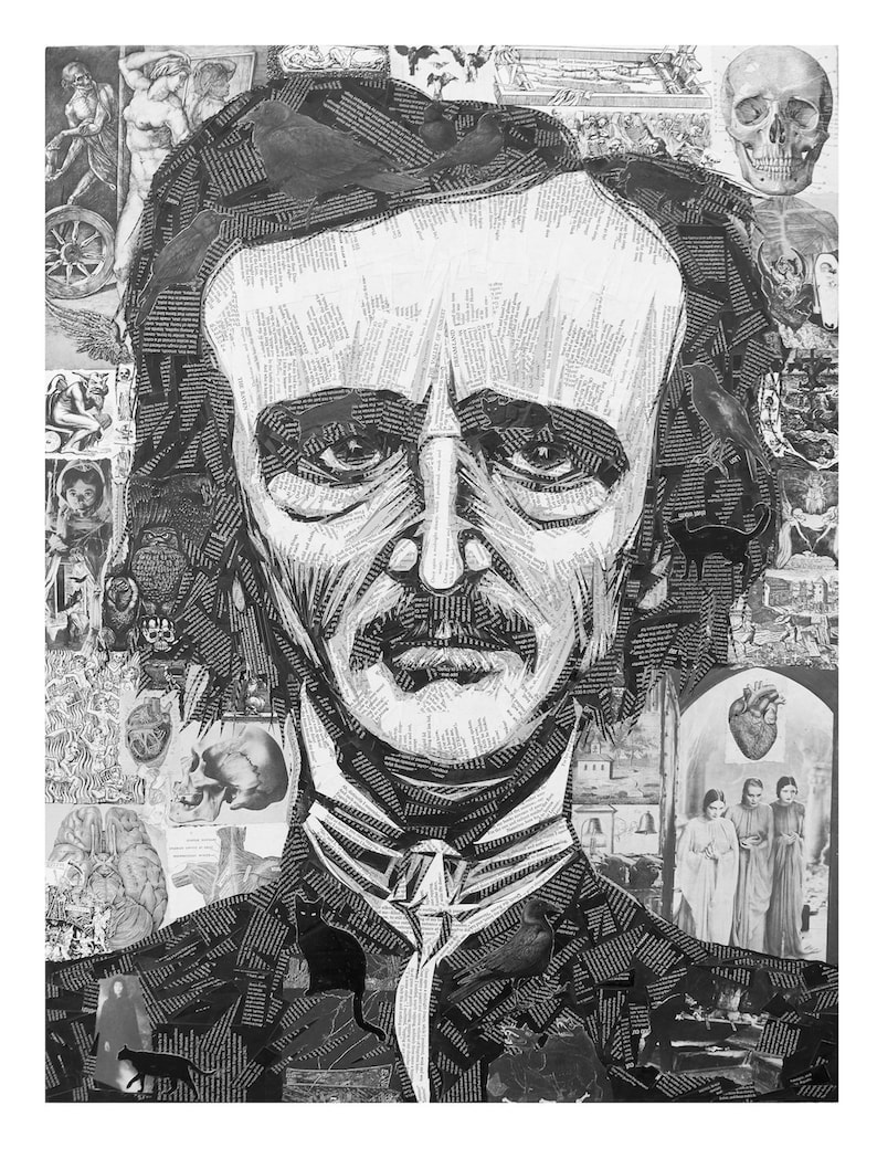 Poe limited edition giclee print of Edgar Allen Poe image 0