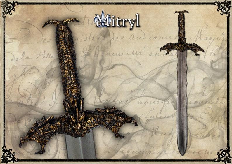 TIAMAT BLACK DRAGON Larp sword, Larp weapon, Cosplay sword, Larp gear,  Theatrical sword, Larp prop, Dragon sword